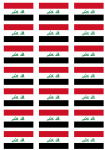 Iraq Flag Stickers - 21 per sheet